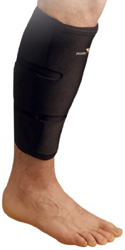 Precision Training Neoprene Calf/Shin Wrap Large/Extra Large, Multicolore (Mehrfarbig - Schwarz/Red), S/M