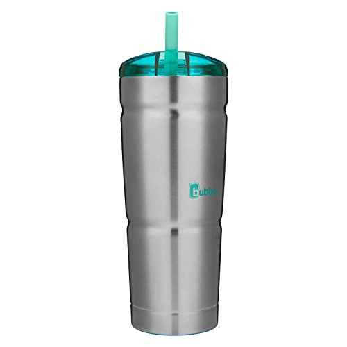 bubba Straw Envy Vacuum-Insulated Stainless Steel Tumbler, 24 oz., Island Teal Lid