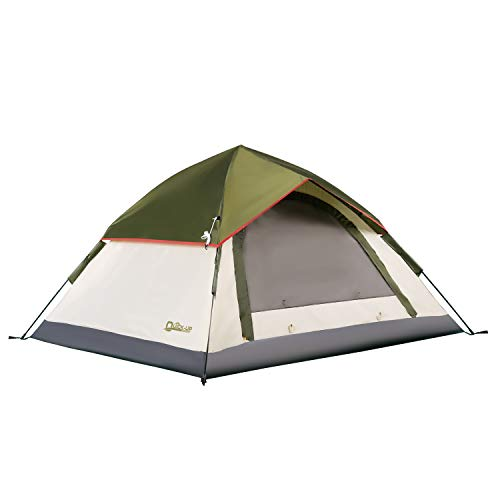 QUICK-UP 2 Person Tents for Camping Backpacking, Instant Pop Up Hiking Tent 3 Person Easy Set Up, Double Layer Outdoor Waterproof Lightweight with Rainfly Top Mesh and Carry Bag - 7' x 6.3'