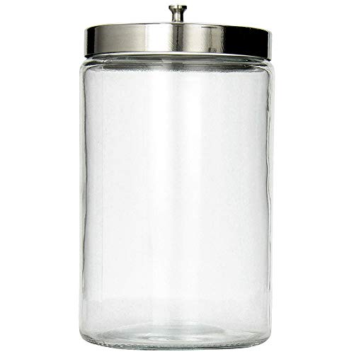 MABIS Stor-A-Lot Glass Apothecary Jar, Sundry Jar Without Imprints, Clear