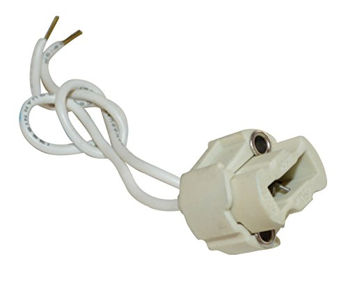 Tibelec 854410 Douille Halogène pour Ampoule à Culot G9 Blanc, Céramique/Silicone