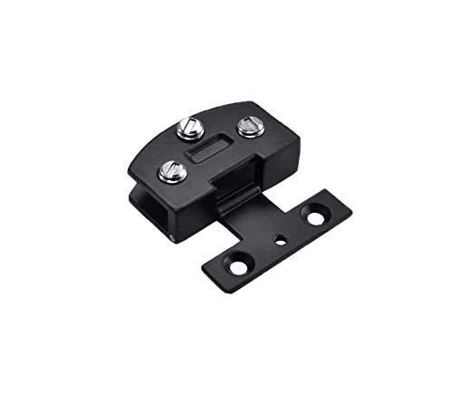 Vogueing Tool - Abrazadera de puerta con bisagra de aleación de zinc, bisagra duradera para puerta de armario de cristal para cristal de 5 a 8 mm, negro