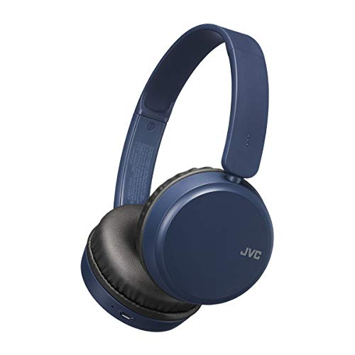 JVC Deep Bass HAS35BTAU - Auriculares de Diadema con Bluetooth, Color Azul, Normal