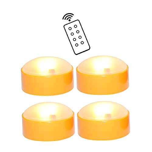 4 Pack Halloween LED Pumpkin Lights with Remote and Timers Battery Operated...