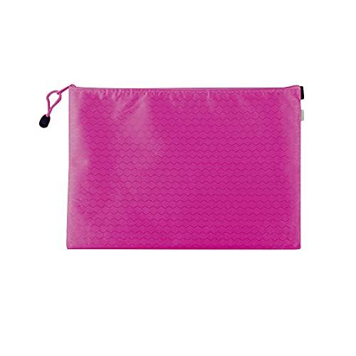 Muka Paquete de 10 soportes de documentos con cremallera, bolsas de archivo, bolsas de malla con cremallera, organizador de documentos, hot pink (Rosa) - 6DKC-JR0005_HOTPINK-A4