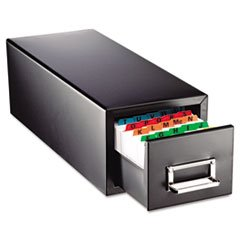 Drawer Card Cabinet Holds 1,500 3 x 5 cards, 7 3/4 x 18 1/8 x 7