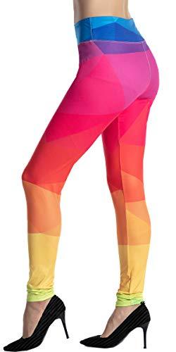 Ndoobiy High Waist Printed Leggings Women's Solid Leggings Soft Yoga Workout Pants Stretchy Capris-HW2(Colorshape OS)