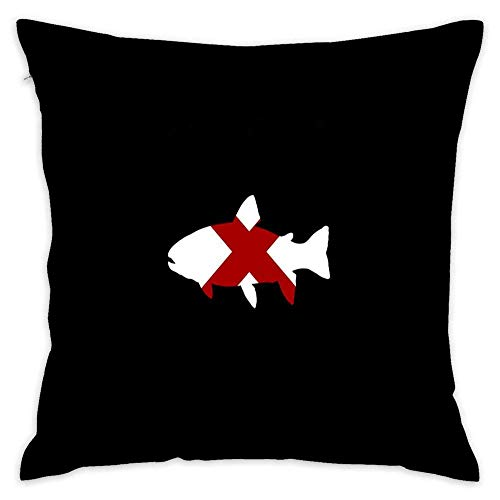 Alabama State Shaped Trout Al Fly Fishing Fish Throw Pillow 18 x 18 Inches Cotton Throw Pillow Case Home Decor Cushion