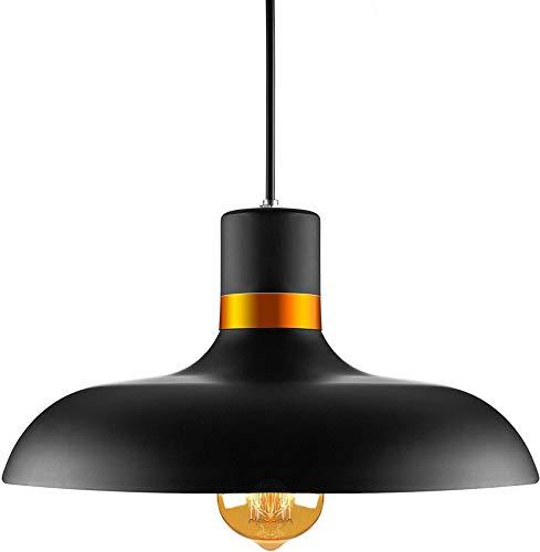 ZJJZ Lámpara Colgante de araña de 12,6 Pulgadas de Ancho de Metal Negro para la casa Loft Sala de Estar Bar Restaurantes Cafetería Decoración del Club
