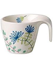 Villeroy & Boch 10-4245-1420 Flow Couture kubek do moko/espresso, 100 ml, porcelana premium, biały/kolorowy