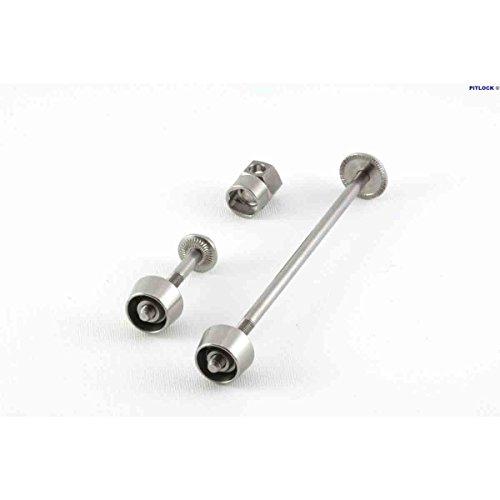 Pitlock Set 01 Front Wheel & Seat Post Cerradura, Unisex