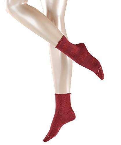 ESPRIT Damen Socken Sparkling Diamond 2er Pack - Baumwollmischung, 2 Paar, Rot (Garnet 8185), Größe: 39-42