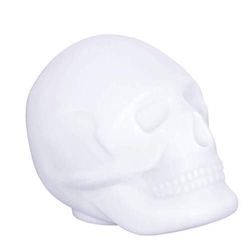 BigBen Sound BTLSSKULL - Altavoz luminoso calavera (Bluetooth, USB, 15 Watts, led colores) multicolor
