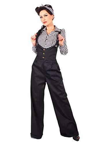 SugarShock Damen Retro Suspender Marlenehose 136828315 Blau XL
