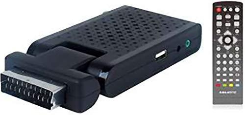 Majestic DEC 663 - Mini Decoder scart Digitale terrestre DVB-T/T2 HD, USB per registrare e riprodurre, Telecomando, HDMI