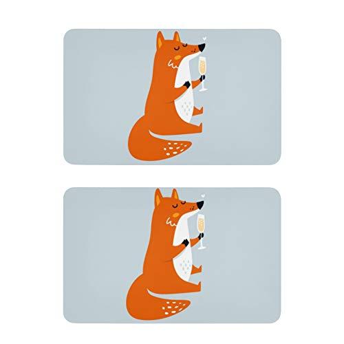 Imanes de nevera con diseño de zorro divertido para nevera, 2 unidades