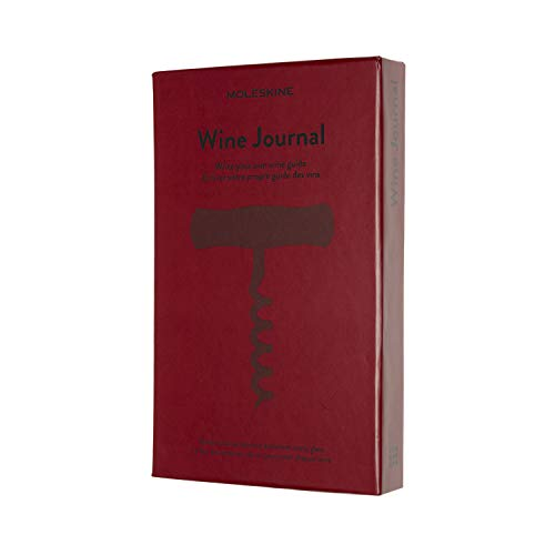 "Moleskine Passion Journal, Wine, Hard Cover, Large (5"" x 8.25"") Bordeaux Red, 400 Pages"