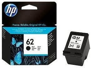 HP 62 C2P04AE Cartouche d'Encre Authentique pour Imprimantes HP Envy 5540/5640/7640 Noir