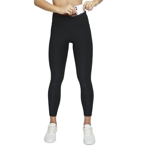 Formbelt Damen Laufhose lang mit Tasche - Yoga Leggins Lange Sportleggings Damen Sporthose Handytasche Blickdicht hoher Bund, Sport Fitness Tight, schwarz M