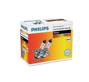 PHILIPS 12342PRC2 H4 12V 60/55W P43t VISION +30% Doppelbox Halogen Lampe