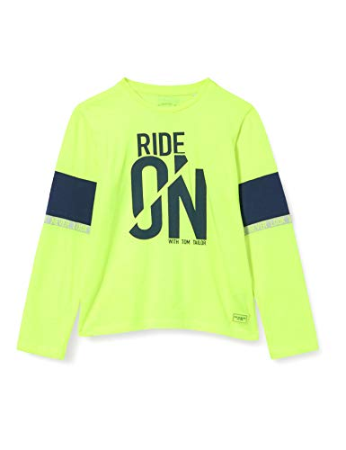 Tom Tailor Langarmshirt Camiseta, Verde Lima, 92/98 cm para Bebés