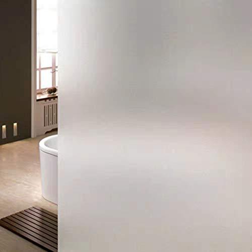 Fensterfolie selbsthaftend Blickdicht Sichtschutzfolie Fenster Scheibenfolie Anti-UV Milchglasfolie Für Zuhause Badzimmer oder Büro (Weiß, 90*200CM)