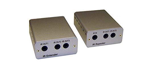 IR Remote Over Cat5 Cat6 Extender Kit + IR Remote Repeater