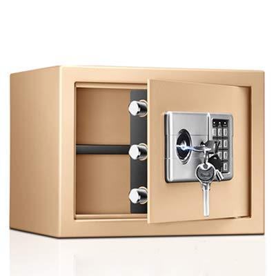 YUKM Caja pequeña de Caja Fuerte Caja de depósito en casa Oficina de Seguridad Montada de Acero Contraseña electrónica Caja de Seguridad Digital Caja de Seguridad, 25 * 35 * 28 cm