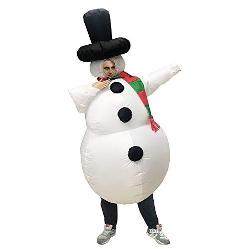 Nologo Disfraces GEMORE muñeco de Nieve Divertido Disfraces hinchables (Size : Adult)