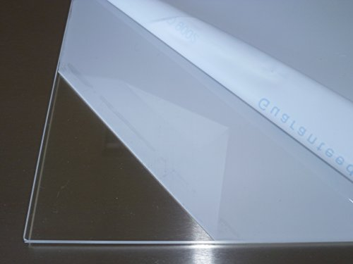 B&T Metall Acrylglas PMMA XT Platte transparent, UV-beständig, beidseitig foliert | 4,0 mm stark | Wunschmaß Zuschnitt bis Größe 10 x 10 cm (100 x 100 mm)
