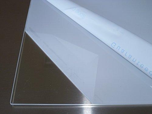 B&T Metall Acrylglas PMMA XT Platte transparent, UV-beständig, beidseitig foliert | 5,0 mm stark | Wunschmaß Zuschnitt bis Größe 40 x 60 cm (400 x 600 mm)