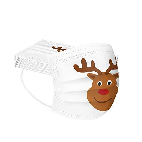 Stück Einweg Mundschutz,Einweg 𝓜ąske Multifunktionstuch Bandana Face Cover Maske 3-lagig Staubdicht Atmungsaktiv Mund-Nasen Bedeckung Halstuch Schals (50PC-A)