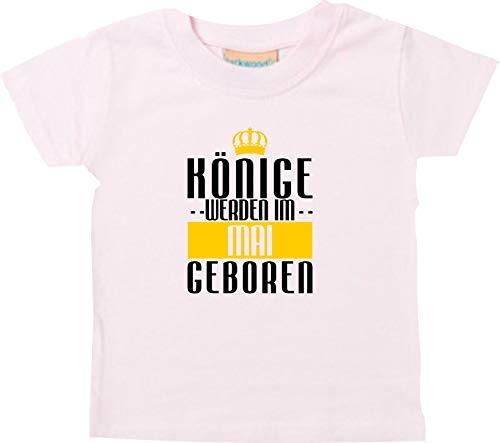 Shirtstown Bébé Kidst-Shirt Rois Seront Im Mai Geboren - Rose, 6-12 Monate