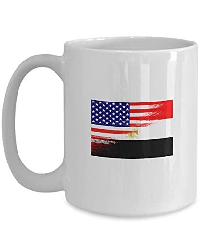 N\A Estados Unidos Egipto Bandera Taza de café Blanca egipcia Taza de té