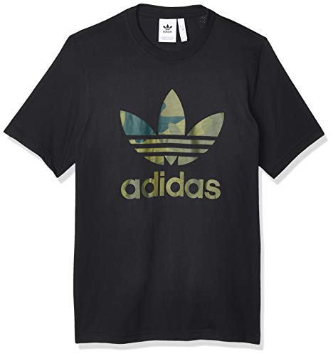 adidas Camo Infill Tee, T-Shirt Uomo, Black/Multicolor, XS