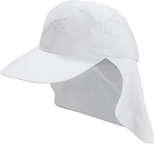 Cooli Bar Fille Soleil Capuchon Protection UV 50 + Blanc Blanc L/XL