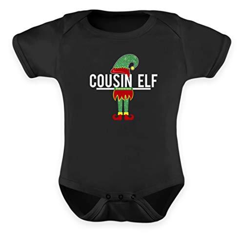 Cousin Elf - Elf, Famille, Mythologie, Fourchette Fée, Fée, Gut, Oeil, Mères, Hommes - Body pour bébé - Noir - 0-6 mois