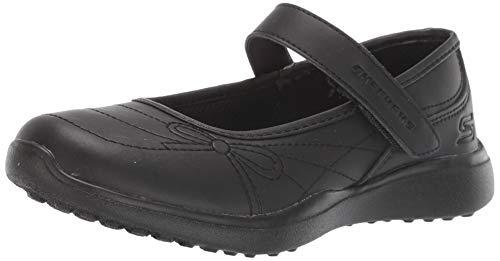 Skechers Kids Girl's MICROSTRIDES-School Sweethear Sneaker, Black/Black, 12 Medium US Little Kid