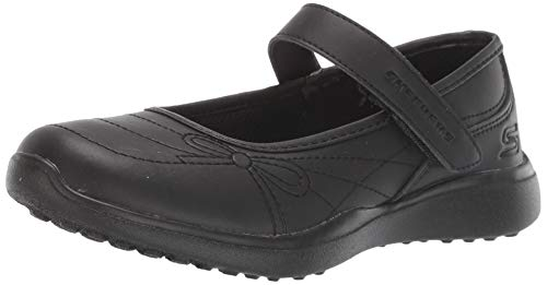 Skechers Kids Girl's MICROSTRIDES-School Sweethear Shoe, Black/Black, 13 Medium US Little Kid