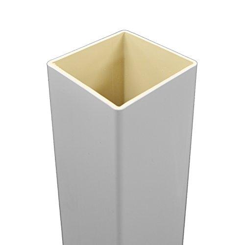 White PVC Vinyl True 4 Inch X 4 Inch X 96' Tall Post Sleeve | Single Pack | LWPT-BLANK-4X96