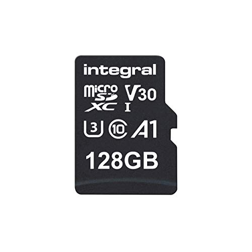 Integral 128GB micro SD card 4K video Premium High Speed memory card microSDXC Up to 100MB/s V30 UHS-I U3 A1 C10