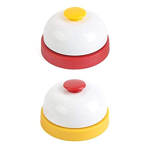 HANSGO Game Call Bell, 2PCS Stainless Steel Pet Training Bell Ring Service Bell Customer Bell for Offices Hotels Schools Restaurants