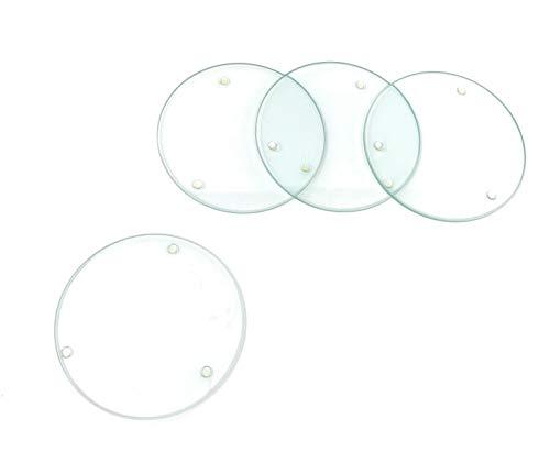 GLOREX Posavasos de Cristal, Multicolor, 10,3 x 10,3 x 2,3 cm