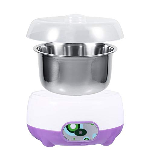 Macchina Automatica per Yogurt Fai da Te 220V 1L, Macchina per Yogurt in Acciaio Inossidabile per Uso Alimentare con Elemento Riscaldante PTC, per Frutta a Base di Latte di Soia(viola)