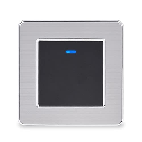 1 Interruptor de encendido / apagado de la luz del interruptor de encendido / apagado de la pandilla con el indicador LED Pase a través del interruptor de acero inoxidable conmutado Diseño elegante