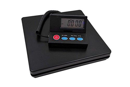 デジタル台はかり スケール 電子秤 隔測式 風袋機能 オートオフ機能 2g単位で 最大50kg計量 ブラック