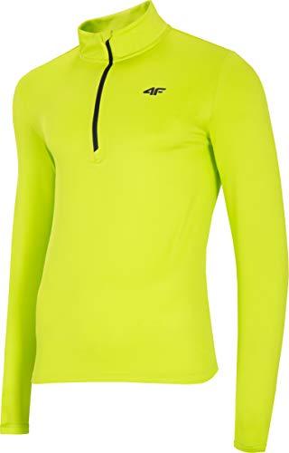 4F Herren Funktions Shirt Henry Camiseta Funcional, Hombre, Verde Canary, XXX-Large