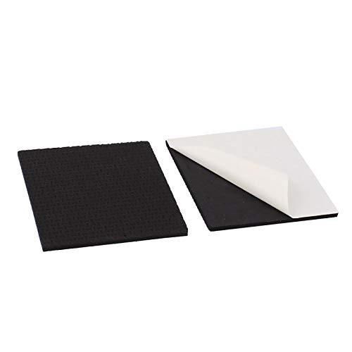 YuuHeeER Eva - Juego de 2 almohadillas autoadhesivas para patas de muebles, cuadradas, antideslizantes, color negro