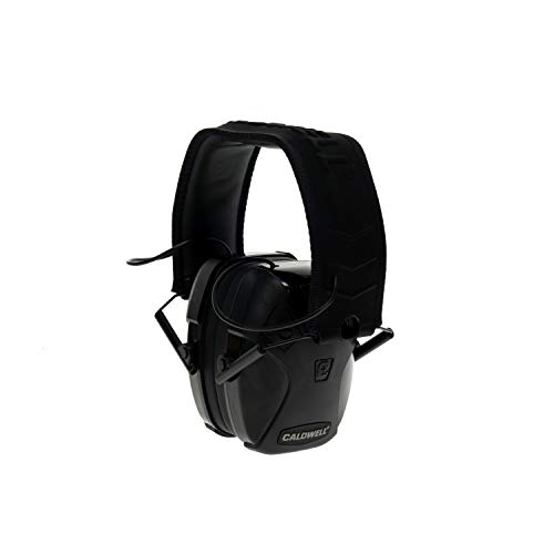 Caldwell E-Max - ADULT Black Bluetooth - Low Profile Electronic 21 NRR Hearing Protection with Sound Amplification - Adjustable Earmuffs