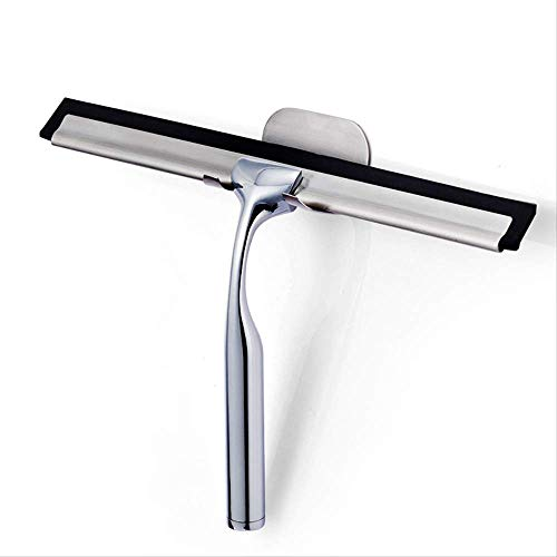 SWEETON Multi-Purpose Shower Squeegee for Shower Doors, Bathroom, Window and Car Glass-Stainless Steel